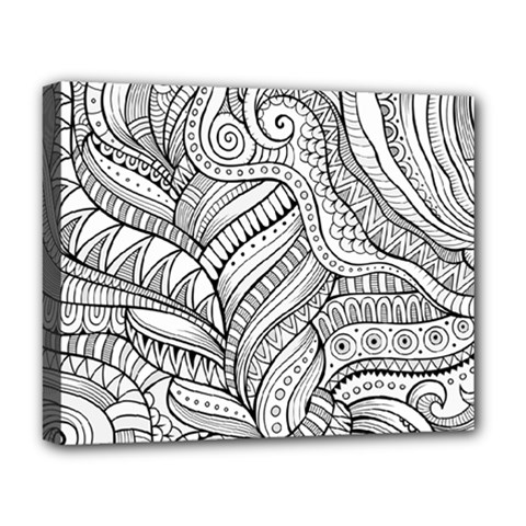 Zentangle Art Patterns Deluxe Canvas 20  X 16