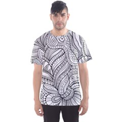 Zentangle Art Patterns Men s Sport Mesh Tee