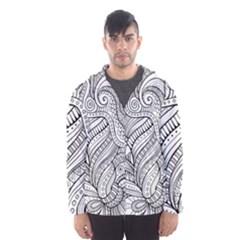 Zentangle Art Patterns Hooded Wind Breaker (men)