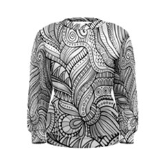 Zentangle Art Patterns Women s Sweatshirt
