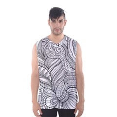 Zentangle Art Patterns Men s Basketball Tank Top