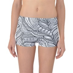 Zentangle Art Patterns Boyleg Bikini Bottoms