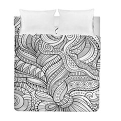 Zentangle Art Patterns Duvet Cover Double Side (full/ Double Size)