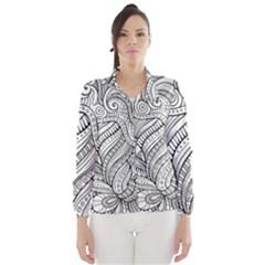 Zentangle Art Patterns Wind Breaker (women)