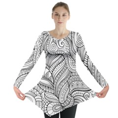Zentangle Art Patterns Long Sleeve Tunic