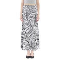 Zentangle Art Patterns Maxi Skirts