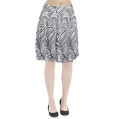 Zentangle Art Patterns Pleated Skirt