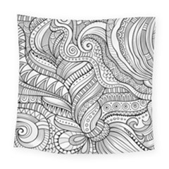 Zentangle Art Patterns Square Tapestry (large)