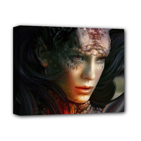 Digital Fantasy Girl Art Deluxe Canvas 14  x 11