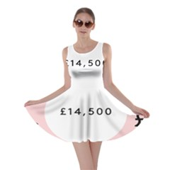 Added Less Equal With Pink White Skater Dress