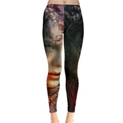 Digital Fantasy Girl Art Leggings