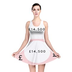 Added Less Equal With Pink White Reversible Skater Dress