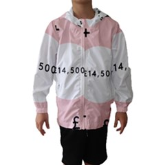 Added Less Equal With Pink White Hooded Wind Breaker (Kids)