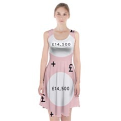 Added Less Equal With Pink White Racerback Midi Dress