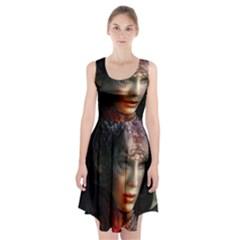 Digital Fantasy Girl Art Racerback Midi Dress