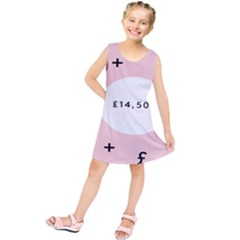 Added Less Equal With Pink White Kids  Tunic Dress