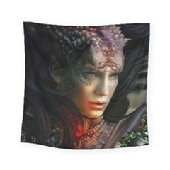 Digital Fantasy Girl Art Square Tapestry (small)
