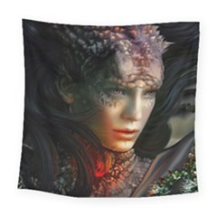 Digital Fantasy Girl Art Square Tapestry (Large)