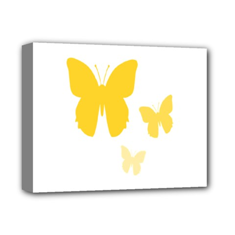 Yellow Butterfly Animals Fly Deluxe Canvas 14  x 11