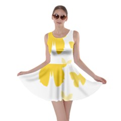 Yellow Butterfly Animals Fly Skater Dress