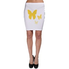 Yellow Butterfly Animals Fly Bodycon Skirt