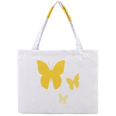 Yellow Butterfly Animals Fly Mini Tote Bag