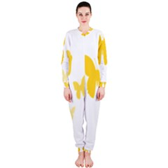 Yellow Butterfly Animals Fly OnePiece Jumpsuit (Ladies)