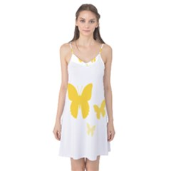 Yellow Butterfly Animals Fly Camis Nightgown