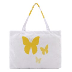 Yellow Butterfly Animals Fly Medium Tote Bag