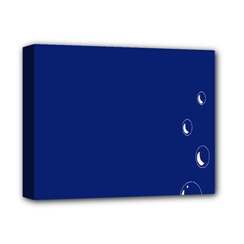 Bubbles Circle Blue Deluxe Canvas 14  x 11