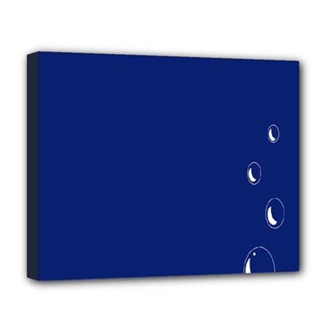 Bubbles Circle Blue Deluxe Canvas 20  x 16