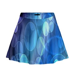 Circle Blue Purple Mini Flare Skirt