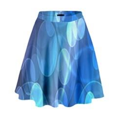 Circle Blue Purple High Waist Skirt