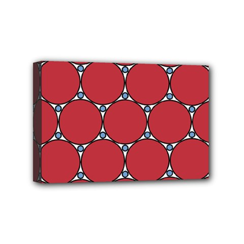 Circle Red Purple Mini Canvas 6  x 4