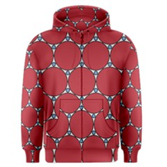 Circle Red Purple Men s Zipper Hoodie