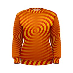 Circle Line Orange Hole Hypnotism Women s Sweatshirt