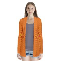 Circle Line Orange Hole Hypnotism Cardigans