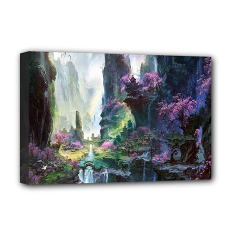 Fantastic World Fantasy Painting Deluxe Canvas 18  x 12