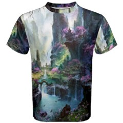 Fantastic World Fantasy Painting Men s Cotton Tee