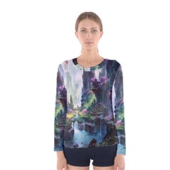 Fantastic World Fantasy Painting Women s Long Sleeve Tee