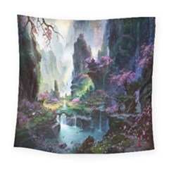 Fantastic World Fantasy Painting Square Tapestry (large)