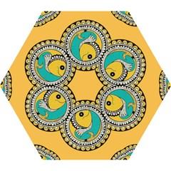 Madhubani Fish Indian Ethnic Pattern Mini Folding Umbrellas