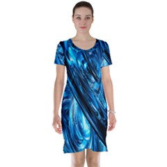 Blue Wave Short Sleeve Nightdress