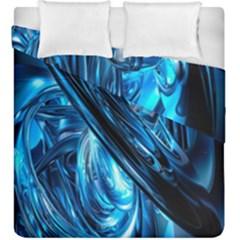 Blue Wave Duvet Cover Double Side (king Size)