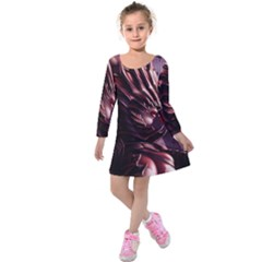 Fantasy Art Legend Of The Five Rings Steve Argyle Fantasy Girls Kids  Long Sleeve Velvet Dress
