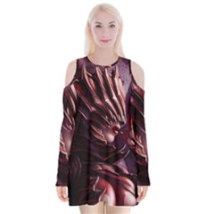 Fantasy Art Legend Of The Five Rings Steve Argyle Fantasy Girls Velvet Long Sleeve Shoulder Cutout Dress