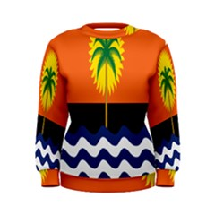 Coconut Tree Wave Water Sun Sea Orange Blue White Yellow Green Women s Sweatshirt