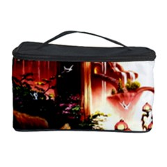 Fantasy Art Story Lodge Girl Rabbits Flowers Cosmetic Storage Case