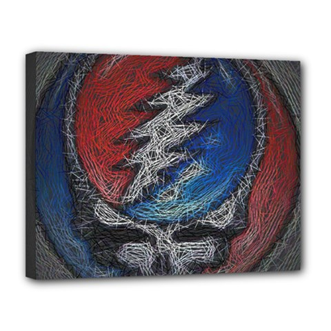 Grateful Dead Logo Canvas 14  x 11