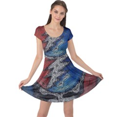 Grateful Dead Logo Cap Sleeve Dresses